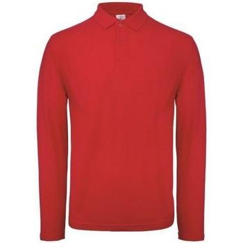 Abbigliamento Uomo Polo maniche lunghe B And C PUI12 Rosso cremisi