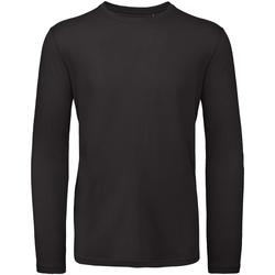 Abbigliamento Uomo T-shirts a maniche lunghe B And C TM070 Nero