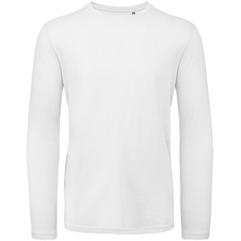 Abbigliamento Uomo T-shirts a maniche lunghe B And C TM070 Bianco