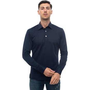 Abbigliamento Uomo Polo maniche lunghe Kiton POSITANO-K06S372 Blu