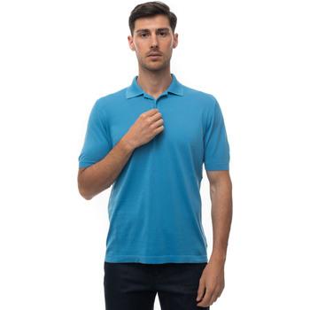 Abbigliamento Uomo Polo maniche corte Kiton UK442K290 Azzurro