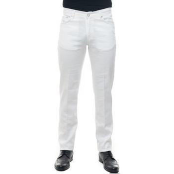 Abbigliamento Uomo Pantaloni 5 tasche Kiton UPNJSM-J07S417 Bianco
