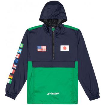 Abbigliamento Uomo giacca a vento Huf Jacket flags anorak Blu