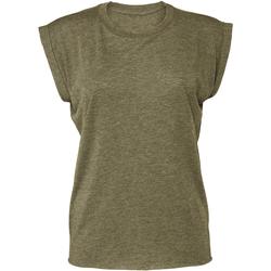 Abbigliamento Donna T-shirt maniche corte Bella + Canvas BE8804 Verde Oliva Screziato