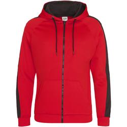 Abbigliamento Uomo Felpe Awdis JH066 Rosso fuoco/Nero