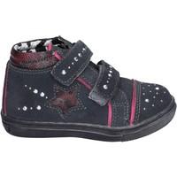 Scarpe Bambina Sneakers alte Didiblu sneakers camoscio strass grigio