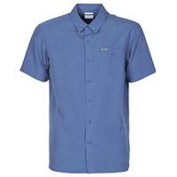 Abbigliamento Uomo Camicie maniche corte Columbia LAKESIDE TRAIL Blu