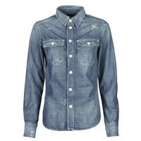 Abbigliamento Donna Camicie G-Star Raw KICK BACK WORKER SHIRT WMN L\S Blu / Medium
