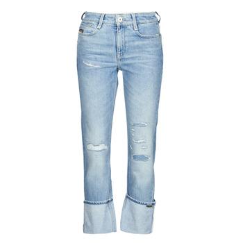 Abbigliamento Donna Jeans dritti G-Star Raw NOXER HIGH STRAIGHT WMN Blu