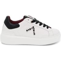 Scarpe Donna Sneakers basse Ed Parrish Sneakers  in pelle e crack bianco e nero bianco,nero