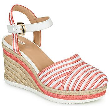 Scarpe Donna Sneakers basse Geox D PONZA Rosso / Bianco