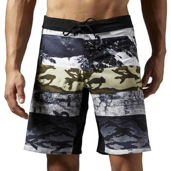 Abbigliamento Uomo Shorts / Bermuda Reebok Sport One Series Sublimated Bianco, Grigio