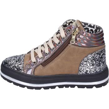 Scarpe Bambina Sneakers Didiblu sneakers pelle sintetica glitter marrone
