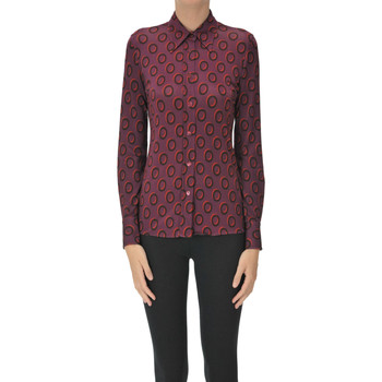 Abbigliamento Donna Camicie Caliban 1226 Camicia stampa optical Bordeaux