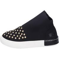 Scarpe Bambina Sneakers Joli sneakers tela borchie nero