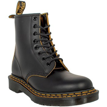 Scarpe Donna Stivali Dr Martens 1460 DS BLACK+YELLOW 26100032 SMOOTH SLICE Black