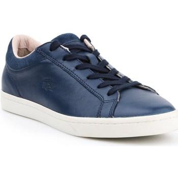 Scarpe Donna Sneakers basse Lacoste Straightset Bianco, Blu marino
