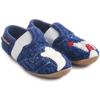 Scarpe Unisex bambino Pantofole Haflinger 48311272 Blu