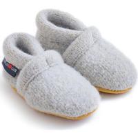 Scarpe Unisex bambino Scarpette neonato Haflinger 65100502 Grigio