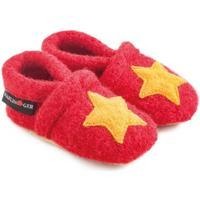 Scarpe Unisex bambino Scarpette neonato Haflinger 65306311 Rosso