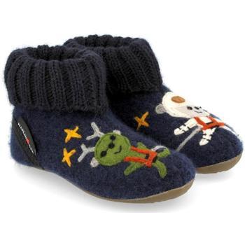 Scarpe Unisex bambino Pantofole Haflinger 48313776 Blu