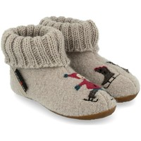Scarpe Unisex bambino Pantofole Haflinger 48313802 Grigio