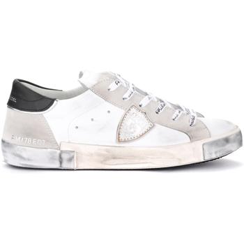 Scarpe Uomo Sneakers Philippe Model Sneaker Paris X in pelle e camoscio bianchi Grigio