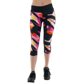Abbigliamento Donna Pantaloni Asics 34 Fuzex Knee Tight Nero, Rosa