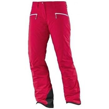 Abbigliamento Donna Pantaloni Salomon Whitecliff Gtx W Rosso