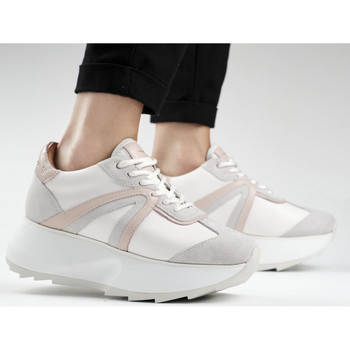 Scarpe Donna Sneakers Alexander Smith CHELSEA bianco-rosa