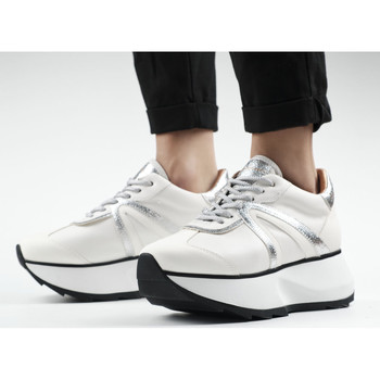 Scarpe Donna Sneakers Alexander Smith CHELSEA bianco-argento