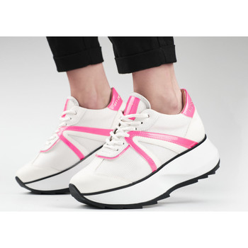 Scarpe Donna Sneakers Alexander Smith CHELSEA bianco-rosa fluo