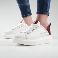 Scarpe Donna Sneakers Alexander Smith WEMBLEY bianco-rosso