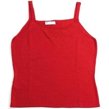 Abbigliamento Donna Top / T-shirt senza maniche Ferrante ATRMPN-21662 Rosso