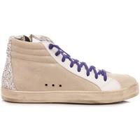 Scarpe Donna Sneakers alte P448 Sneakers Alte Donna F20SKATE-W White-Silver bianco, glitter argento