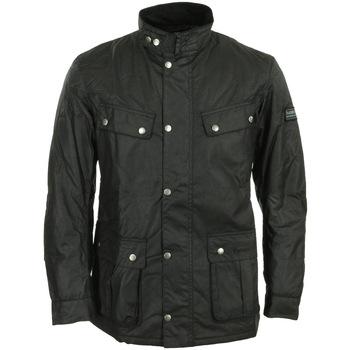 Abbigliamento Uomo Parka Barbour International Duke Wax Jacket Nero
