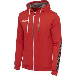 Abbigliamento Unisex bambino Felpe Hummel Sweatshirt enfant  zip Authentic Poly rouge