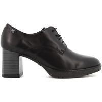 Scarpe Donna Décolleté CallagHan donna scarpe stringate con tacco 27702 NERO Pelle