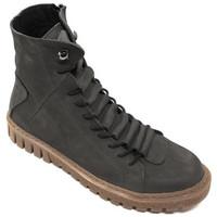Scarpe Donna Sneakers alte Tiurai ANFIBIO  - MOTIVO NABUK GRIGIO Grigio