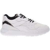 Scarpe Uomo Sneakers basse Hogan sneakers fashion da uomo in pelle e tessuto con lacci bianco