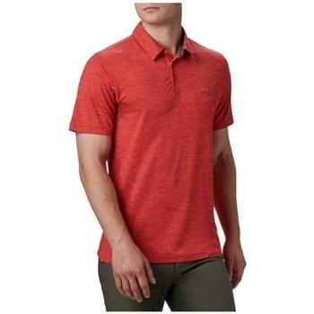 Abbigliamento Uomo Polo maniche corte Columbia Tech Trail Polo Shirt Rosso
