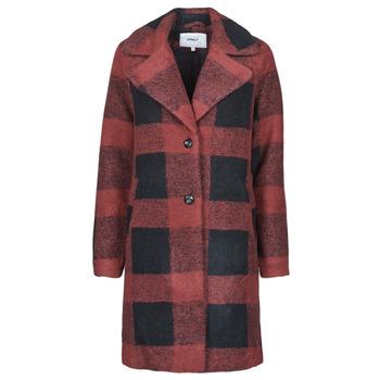 Abbigliamento Donna Cappotti Only ONLVICKI Rosso / Nero