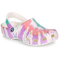 Scarpe Donna Zoccoli Crocs CLASSIC TIE DYE GRAPHIC CLOG Multicolore