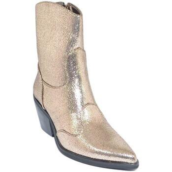 Scarpe Donna Tronchetti Malu Shoes Tronchetto donna camperos stivaletto oro platino in lurex satin ORO