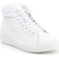 Scarpe Donna Sneakers alte Lacoste Straightset Thermo Bianco