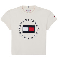 Abbigliamento Bambina T-shirt maniche corte Tommy Hilfiger KG0KG05503-Z00-J Beige