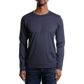Abbigliamento Uomo T-shirts a maniche lunghe Cp Company 06CMTS055A-000444G - 888 Total Eclipse Blu