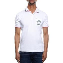 Abbigliamento Uomo Polo maniche corte Sun68 A19123 - 01 Bianco Bianco