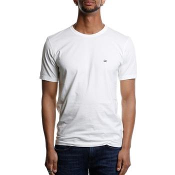 Abbigliamento Uomo T-shirt maniche corte Cp Company 06CMTS054A-000444G - 101 White Bianco