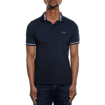 Abbigliamento Uomo Polo maniche corte Sun68 A19126 - 07 Navy Blue Blu
